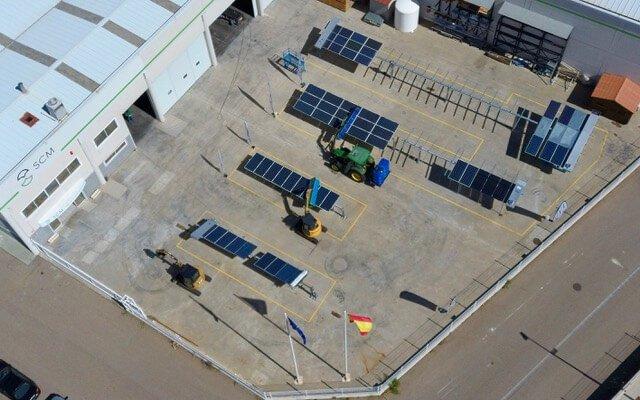Vista aérea del campo de scm