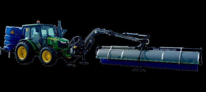 Modelo D2 con brazo hidráulico limpiador de placas solares